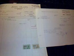 Facture Jean  Hiillen Importation D Articles Pour  Fumeurs A Bree  Limbourg  Belgique Lot De 2 Annee 1958 - Pays-Bas