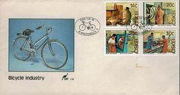 Ciskei 1986 - Fahrradherstellung - MiNr 102-105 - Radsport
