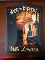 Targa Pubblicitaria Di PUB LONDON - JACK THE RIPPER' - Cartelli Pubblicitari