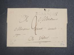 FRANCE - Lettre De Besançon Pour Vesoul En 1829 - L 15038 - Marcophilie (Lettres)