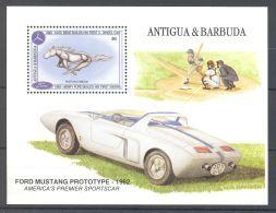 Antigua - 1993 Cars Block (1) MNH__(TH-9444) - Antigua And Barbuda (1981-...)