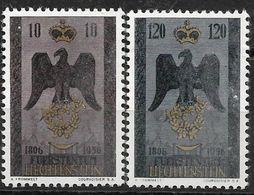 1956 Liechtenstein Mi.346-7 **MNH . 150 Jahre Souveränes Fürstentum Liechtenstein - Liechtenstein