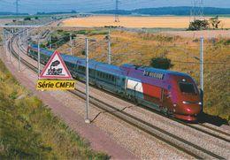 TGV Thalys PBKA Rame N°4322, à Ver-sur-Launette (60) - - Other Municipalities