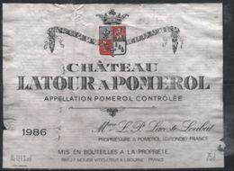 Chateau Latour à Pomerol 1986 - Vino Tinto