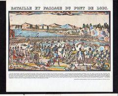 Publicité Pharmaceutique / Militaria Militaire / Série Napoléon Bonaparte / Bataille Et Passage Du Pont De Lodi - History