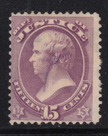 USA 1873 Used Scott #O31 15c Webster - Dept Of Justice - Perf Faults - Officials
