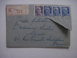 1954 Cachet Exagonale Recommandée - Postmark Collection (Covers)