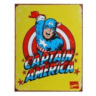 Plaque Déco En Métal : Captain America -  415151-2469 - Advertising (Porcelain) Signs