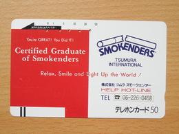 Japon Japan Free Front Bar, Balken Phonecard  / 110-7224 / Smokenders - Japan