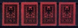 ALBANIA, FULL SET POSTAGE DUE STAMPS 1922 MHN - Albanie