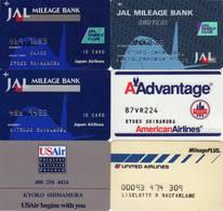 Airlines Mileage Cards - 6 Pieces - Expired - Cartes De Crédit (expiration Min. 10 Ans)