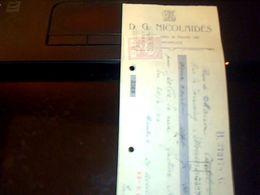 Lettre De Change De Belgique Nicolaides Abruxelles Annee 1923 Avec Fiscal - Bills Of Exchange