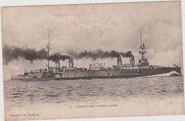 Bateau De  Guerre : L Amiral Aube , Croiseur  Cuirassé ( Edit.  A  Cherbourg) - Guerra
