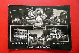Hamburg - Reeperbahn Bei Nacht - Ansichtskarte 1967 Gelaufen - Mitte