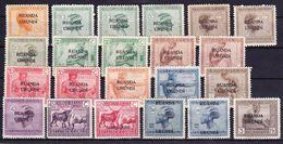 Ruanda-Urundi Kleine Verzameling 1924 *, Zeer Mooi Lot K785 - Timbres