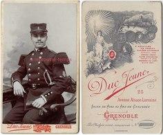 CDV Soldat Musicien Du  4e Régiment-bel état-photo Duc Jeune à Grenoble - Guerre, Militaire