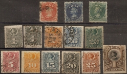 Chili Type Colon 14 Stamps Cabncelled - Chile