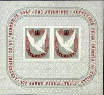 Switzerland 1945, Centennial Basel Dove - Basler Taube, Block Issue MH - Switzerland