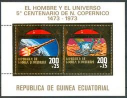 1973 Guinea Equatoriale Copernico Astronomia Astronomy Astronomie Space Gold Printed MNH** - Guinea Equatoriale