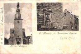 Marche - L'Eglise - Le Monument Du Commandant Ponthier (DVD, Animée, 1902) - Marche-en-Famenne
