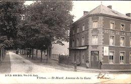 Virton - St Mard, Avenue De La Gare (DVD, Animée, Hôtel De La Station, 1903) - Virton