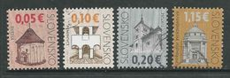 Slowakije, Yv 523-524-525-658, Gestempeld, Zie Scan - Oblitérés