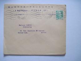 1950 MARTIN  VIALATTE PARIS IVè - Marcophilie (Lettres)