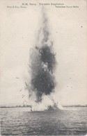 Vintage Postcard. WW1. H.M. Navy. Torpedo Explosion. - War 1914-18