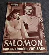 """Altes NFP-Filmprogramm - GINA LOLLOBRIGIDA In """"SALOMON Und Die Königin Von SABA"""" Mit Yul Brynner ... - 180602 - Magazines"""