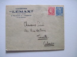 """1947 Chaussures """"LEMAX"""" PARIS XIè - Marcophilie (Lettres)"""
