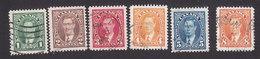 Canada, Scott #231-236, Used, George VI, Issued 1937 - 1937-1952 Règne De George VI