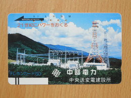 Japon Japan Free Front Bar, Balken Phonecard  / 110-7266 / Power Distribution / No Bars On Rearside - Japan