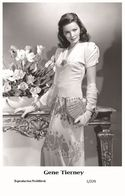 GENE TIERNEY - Film Star Pin Up PHOTO POSTCARD - 1-229 Swiftsure Postcard - Unclassified