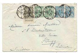 ALGERIE - SUISSE 1923 Un Timbre De Carnet Avec Publicité BRETELLE CH. GUYOT Pour La Suisse, Höngg Zurich - Storia Postale