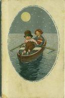 GIRIS - KIDS ON THE BOAT & MOON - N.226-4 - 1910s ( 49 ) - Illustrateurs & Photographes