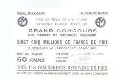 Buvard MAGNARD Grand Concours Des Cahiers De Vacances Magnard - Stationeries (flat Articles)