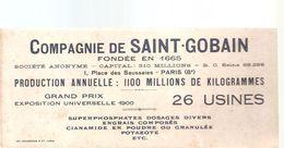 Buvard SAINT GOBAIN Compagnie Saint Gobain Production Annuelle 1100 Millions De Kilogrammes 26 Usines - Agriculture