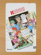 Japon Japan Free Front Bar, Balken Phonecard  / 110-7270 / Ricoh Computers Disc - Japan