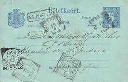1899  Briefkaart  Stempels Buitenzorg - Maos - Soerabaja En Makassar  Na Posttijd - Indes Néerlandaises