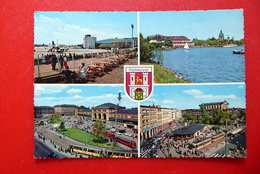 Hannover - Messestadt - Hauptbahnhof - Flughafen - Straßenbahn - Wappen - Niedersachsen - AK 1963 Gelaufen - Hannover