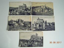 LOT 5 CPA CHATEAU BONAGUIL XIII Et XVeme Siécle Toutes Différentes Périgord,Fumel - Circa 1920  TOUTES EN BEL ETAT - France