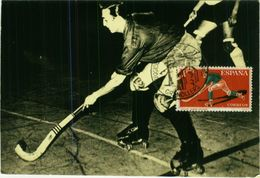 SPAIN - MAXIMUM CARD SPAIN - ATHLETICS - ROLLER HOCKEY - 1960s ( 2564) - Cartes Maximum