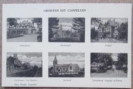 (J741) - Groeten Uit Cappellen - Denneburg - Sterrenhof - Irishof - Statie - Kerk - Denneburg Ingang - Kapellen