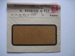 1947 H. ROUGIER & PLE QUINCAILLERIE CLOUTERIE PARIS - Marcophilie (Lettres)