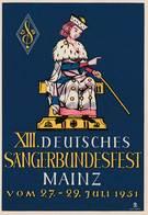 Deutsches Sangerbundesfest Mainz Vom 27-29 Juli 1951 - BRD