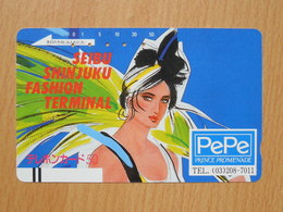 Japon Japan Free Front Bar, Balken Phonecard  / 110-7272 / PePe - Japan