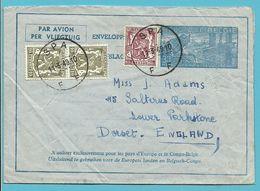 420+711 Op Omslag-brief (enveloppe-lettre / Aerogram) Met Stempel SPA Naar DORSET (G.B.) - Aerogrammen