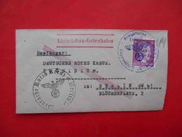 GERMANY 1944 Navy. Hospital Ship WILHELM GUSTLOF, Line Libau - Gotenhagen. Cover To Red Cross #1. Kriegsmarine Feldpost - Allemagne
