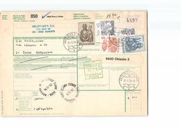 L1179 DESPATCH NOTE BULLETIN D'EXPEDITION HELVETIA RIVA S. VITALE TO GERENZANO VIA DOGANA CHIASSO - 1984 - Svizzera