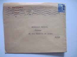 1947 A. BAUDRY  EVREUX - Marcophilie (Lettres)